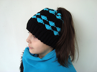 14acefff96ed7 Ravelry  Easy and quick Messy bun hat pattern by Perfect Crochet For You