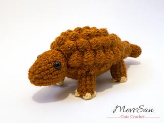 Amigurumi Dinosaur Free Pattern : Ravelry: amigurumi ankylosaurus dinosaur pattern by mevlinn gusick