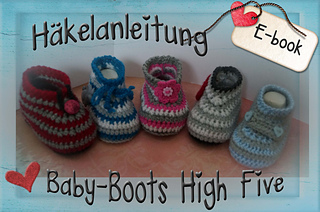 Ravelry Baby Schuhe High Five Pattern By Sternen Welt