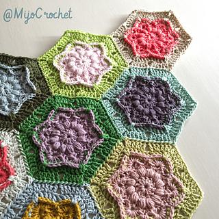 Ravelry Wind Flower Hexagon Pattern By Johanna Lindahl