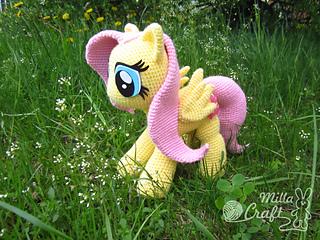 Amigurumi Pony Tutorial : Ravelry: Fluttershy from My Little Pony pattern by Milla Craft