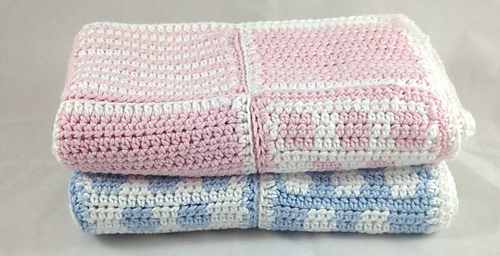 Ravelry Baby Spot And Stripe Blanket Pattern By Ruby