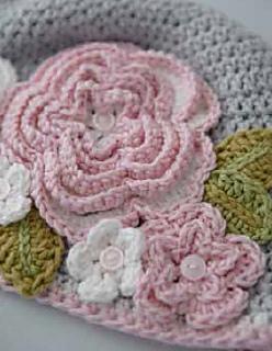 Ravelry Vintage Rose Beanie Pattern By Ruby Amp Custard