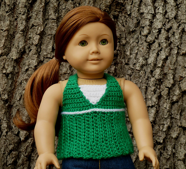 Breezy Halter Top Dress 18 American Girl Doll Pattern By Yay For Yarn Patterns
