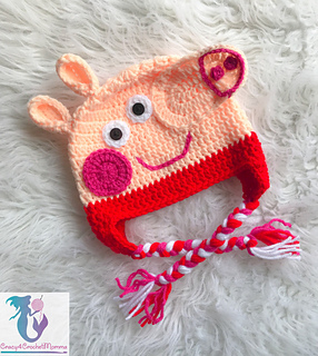 patterns   Crazy4CrochetMomma s Ravelry Store.   Peppa Pig hat 3257d65384b