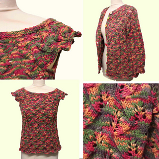 b0e4b2581d89d0 Ravelry  Autumn Leaves Cardigan pattern by Mrs Buttons