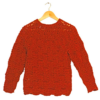 6b37d0eaa3ce11 Ravelry  Quick Knit One-Ball Tree Lace Jumper pattern by Mrs Buttons