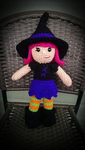 Amigurumiwitches Forum : Ravelry: Willow the Witch Amigurumi pattern by Carolina Guzman