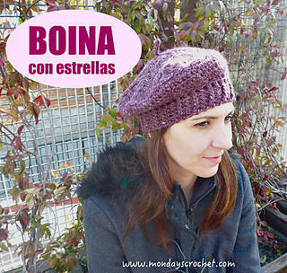 Ravelry  Boina con estrellas pattern by Mondays crochet dcfea1ae416