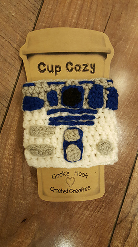 Ravelry R2d2 Cup Cozy Pattern By Cooks Hook Crochet Creations