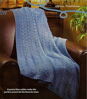 83f5c51db Ravelry  Mock-Cable Throw pattern by Marilyn Losee