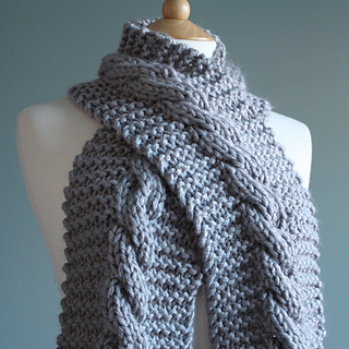 Super Chunky Cable Scarf Pattern By Clair Louise Coult Ravelry