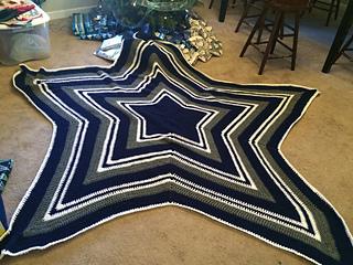 Ravelry Dallas Cowboy S Star Blanket Pattern By Celeste
