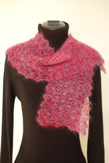 Ravelry The Lorikeet Fine Lace Scarf Pattern By Mrs Rose