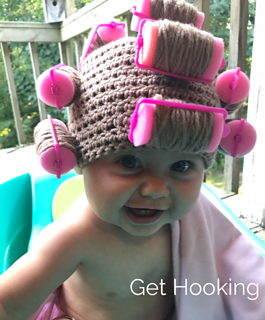 Ravelry  Baby Hair Roller Hat pattern by Get Hooking e60afa809c8