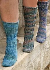 Aran Trio Socks PDF