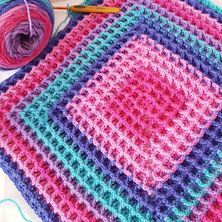 Ravelry Raised Squared Waffle Pattern By Buttonnose Crochet