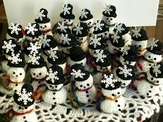 Ravelry Snowman Chocolate Cover Decoration Pattern By