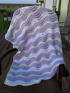 Ravelry Wavy Ripple Blanket Pattern By Bernat Design Studio