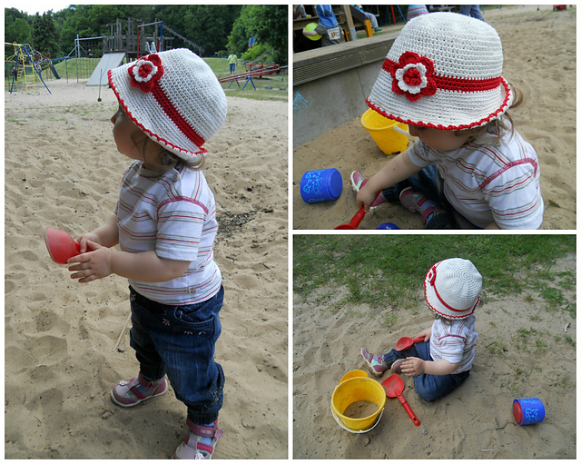 Ravelry Toddler Cotton Sun Hat Pattern By Kinga Erdem