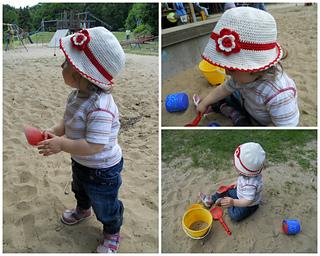 9d4b74d5113 Ravelry  Toddler Cotton Sun Hat pattern by Kinga Erdem