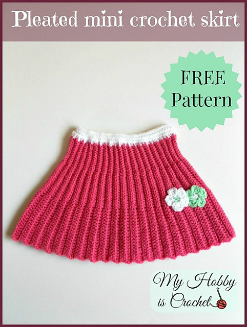 Ravelry Pleated Mini Crochet Skirt Pattern By Kinga Erdem