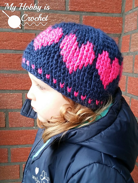 Ravelry: A Hat with Love pattern by Kinga Erdem