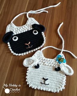 Ravelry Little Lamb Baby Bib Pattern By Kinga Erdem