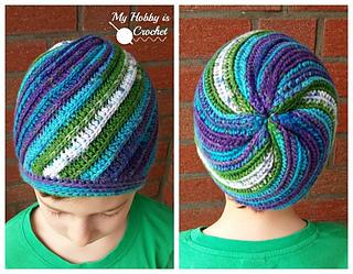 Ravelry  Pinwheel Beanie pattern by Kinga Erdem 182fcc69183