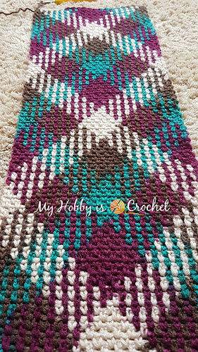 Ravelry Argyle With A Twist Infinity Scarf Pattern By
