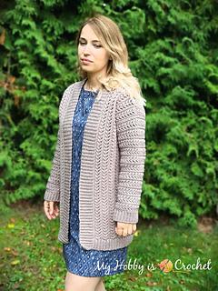 Ravelry Chic Aran Cardigan Pattern By Kinga Erdem