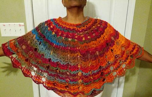 Ravelry Bows And Arrows Poncho Pattern By Dot Matthews Gorgeous Crochet Poncho Pattern Ravelry