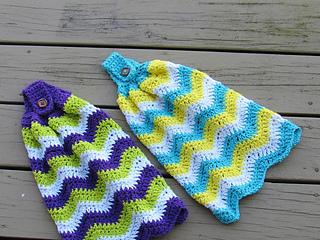 Ravelry Chevron Kitchen Towel Pattern By Crochetdreamz