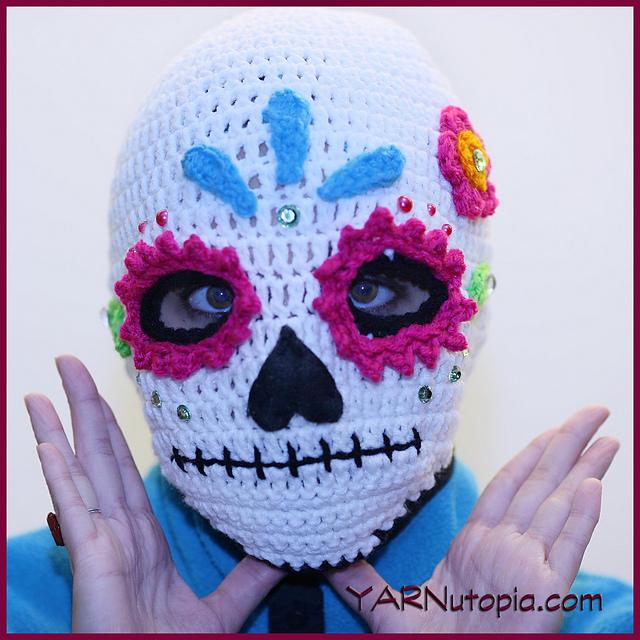 Ravelry Sugar Skull Ski Mask Pattern By Nadia Fuad
