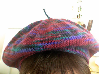 Free Knitting Pattern Beret Straight Needles : Ravelry: 2 Needle Beret pattern by Rita Taylor
