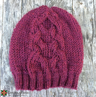 ravelry bordeaux cabled hat pattern by deviousrose. Black Bedroom Furniture Sets. Home Design Ideas