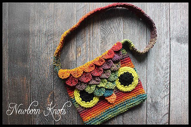 Ravelry 63 Crocodile Stitch Owl Bag Pattern By Amanda Chapman