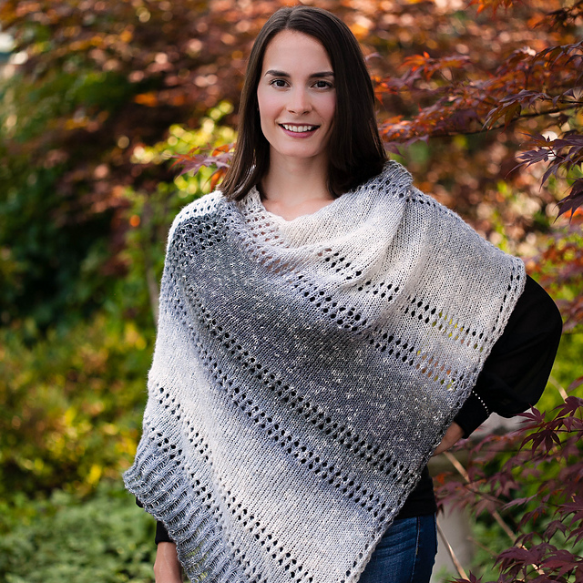 Ravelry Grey Skies Poncho Pattern By Nicole F Cox