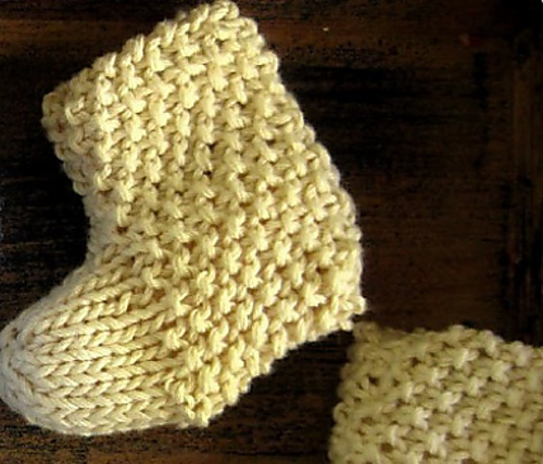 Ravelry Seed Stitch Baby Booties Pattern By Stacy L
