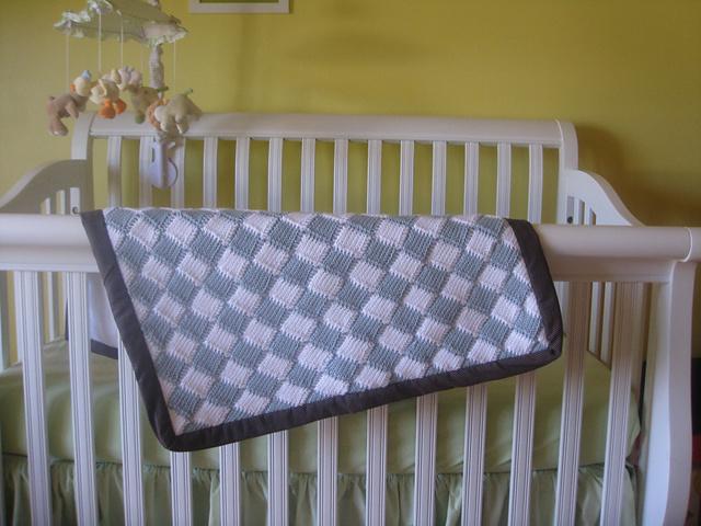 Ravelry Tunisian Crochet Entrelac Style Baby Blanket Pattern By