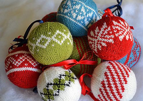 Christmas Ornament Knit Pattern Set Christmas Tree