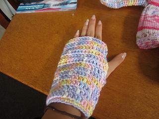 6f8cc9507 Ravelry  Yvette s Crocheted Fingerless Gloves pattern by Yvette O Brien