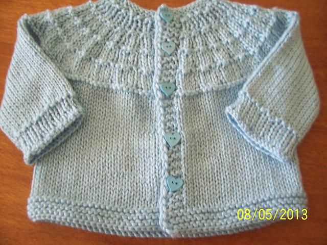 Ravelry Ribbed Yoke Baby Sweater Pattern By Sally Haner