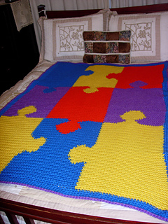 Ravelry Jigsaw Puzzle Afghan 30040ad Pattern By Lion