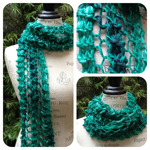 Ravelry Quick And Easy Chunky Lace Scarf Pattern By Nancy Queen