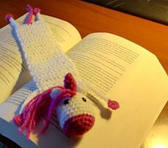 Unicorn Bookmark pattern by Sofia Spanò - Ravelry