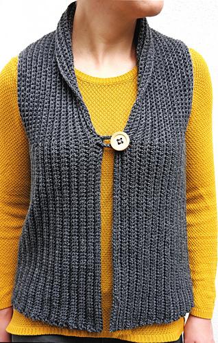 Ravelry Vest Weste Pattern By Clever Crochet