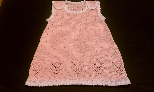 Ravelry Tulip Lace Dress Pattern By Patons