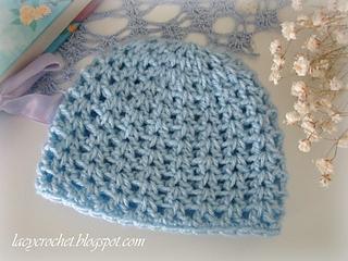 Ravelry  V-Stitch Newborn Beanie pattern by Olga Poltava 777de18ae75