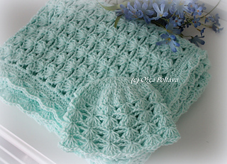 Ravelry Shells And Chains Baby Blanket And Hat Pattern By Olga Poltava